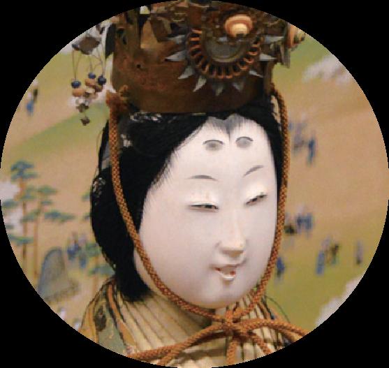 琴姫夫妻の長女加屋姫の古今雛